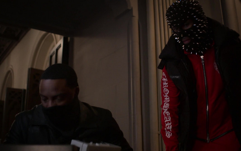 Chrome Hearts Men's Red Tracksuit (Jacket and Pants) in Power Book II Ghost S01E07 (2)