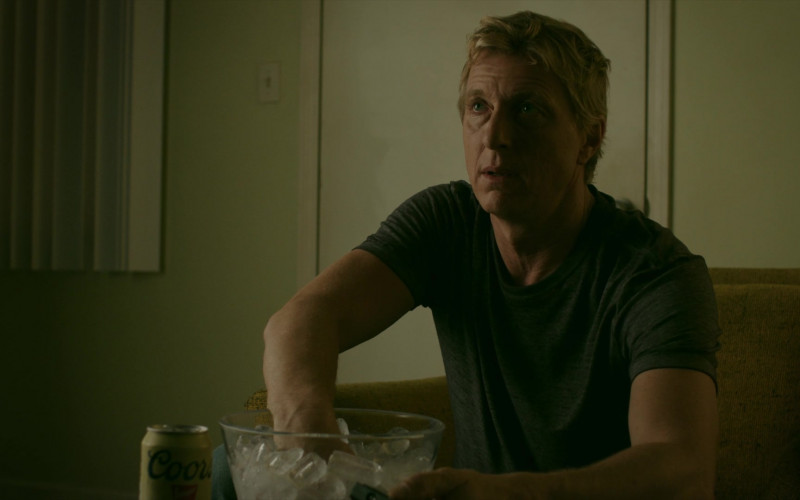 Coors Banquet Beer of William Zabka as Johnny Lawrence in Cobra Kai S02E01