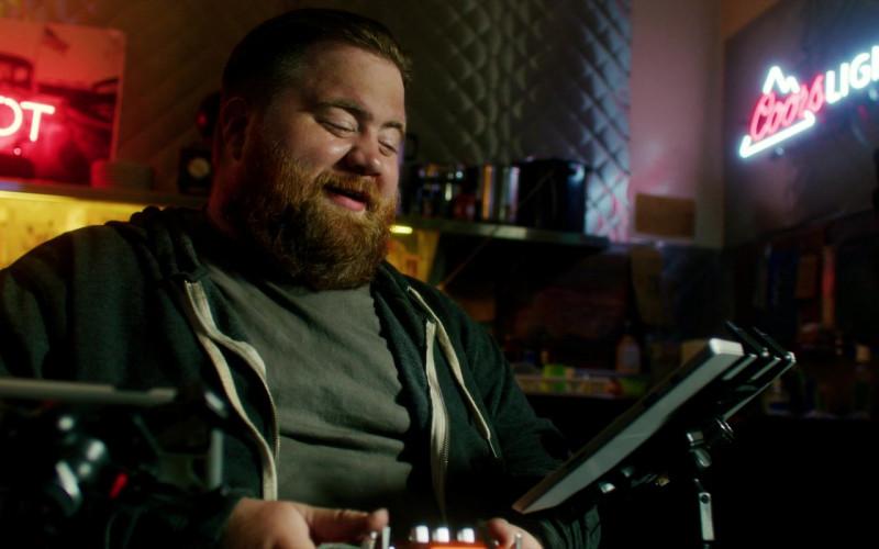 Coors Light Neon Sign of Paul Walter Hauser as Michael Dozer in Songbird (2)