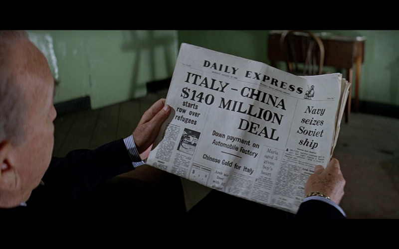 Daily Express Newspaper in The Italian Job (1969)
