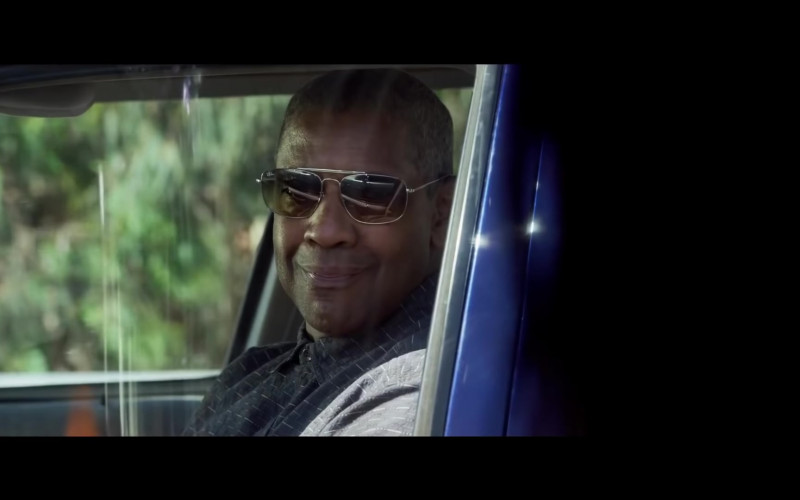 Denzel Washington as Deke Wears Ray-Ban The Colonel RB3560 Sunglasses in The Little