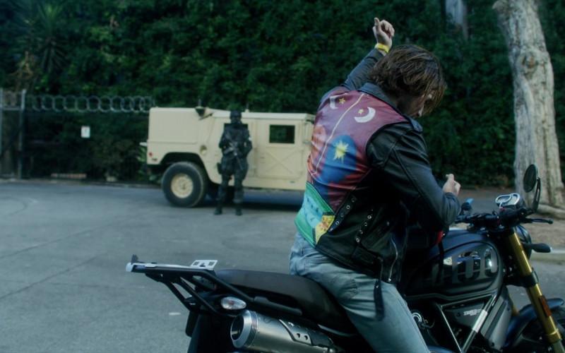 Ducati Scrambler 1100 Motorcycle of KJ Apa as Nico Price in Songbird (2)