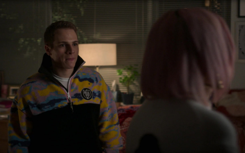 Eye-Loewe-Nature Camo Logo-patch Fleece Jacket Outfit of Gianni Paolo as Brayden in Power Book II Gh ( (3)