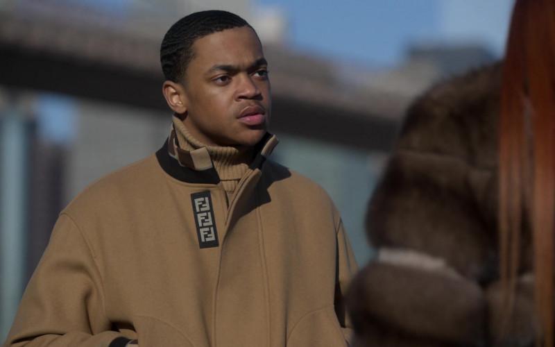 Fendi Men's Jacket Worn by Michael Rainey Jr. as Tariq St. Patrick in Power Book II Ghost S01E08 (2)