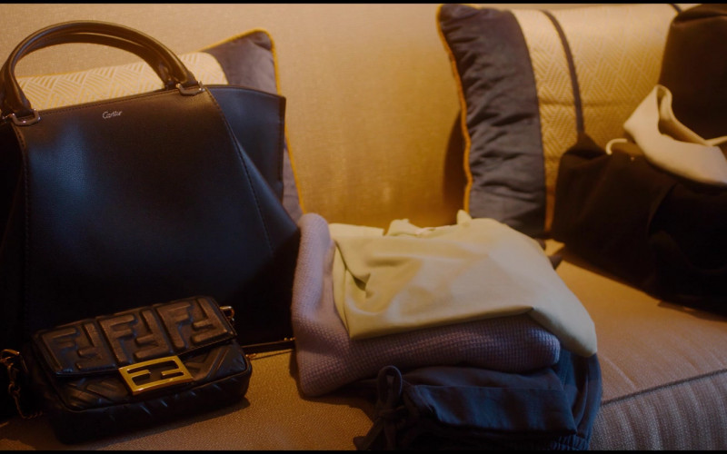 Fendi and Cartier Women's Bags of Gemma Chan as Karen in Let Them All Talk (2020)