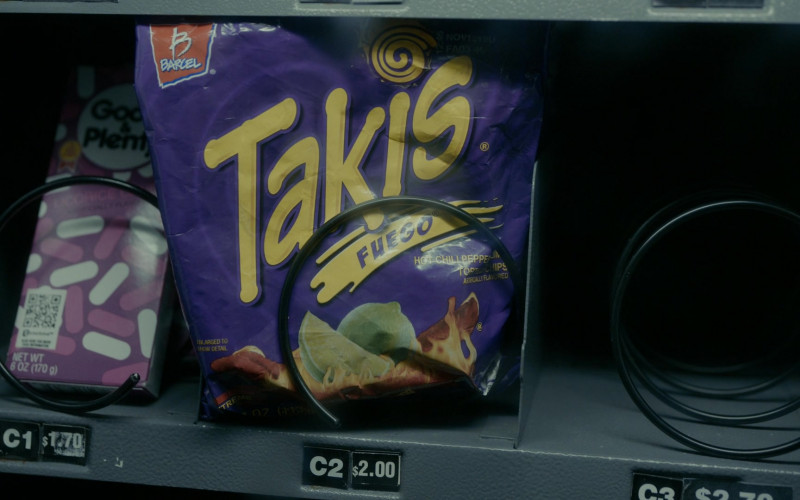 Good & Plenty Licorice Candy and Takis Fuego Chips in The Wilds S01E04 Day Six