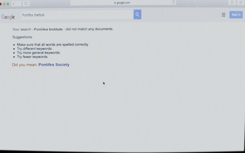 Google WEB Search in The Empty Man (2020)
