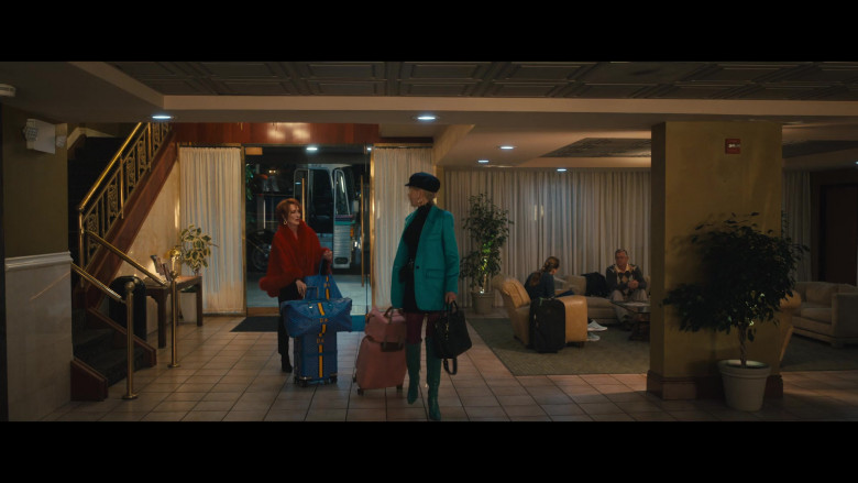 Goyard Travel Bags and Blue Luggage of Meryl Streep as Dee Dee Allen in The Prom