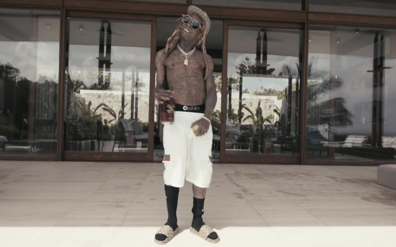 Gucci Slide Sandals of Lil Wayne in Something Different (2020)