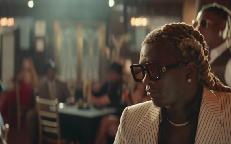 Gucci Square Glasses of Young Thug in City Girls (2)