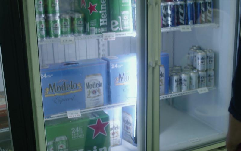 Heineken, Modelo and Ice Beer Cans in Cobra Kai S01E05