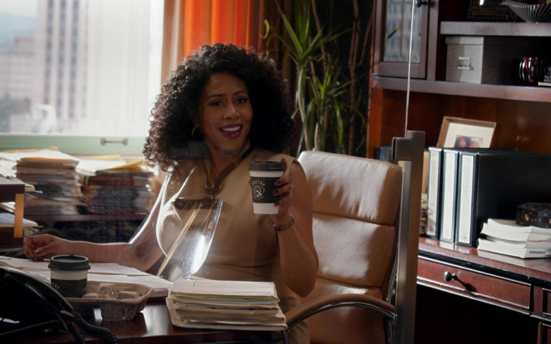 Hilltop Coffee Enjoyed by Simone Missick as Lola Carmichael in All Rise S02E04 (1)