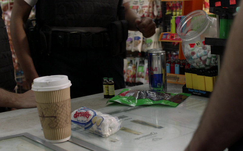 Hostess Donettes Mini Donuts and Red Bull Energy Drink in Shameless S11E03