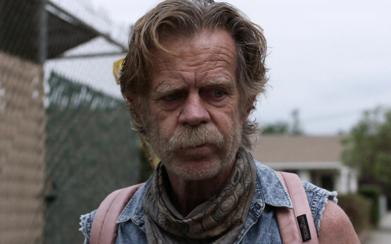 JanSport Pink Backpack of William H. Macy as Frank Gallagher in Shameless S11E03 Frances Francis Franny Frank (2020)