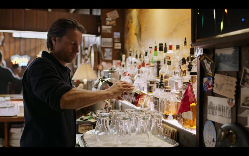 Jim Beam Bourbon Bottle Held by Martin Henderson as Jack Sheridan in Virgin River S02E01