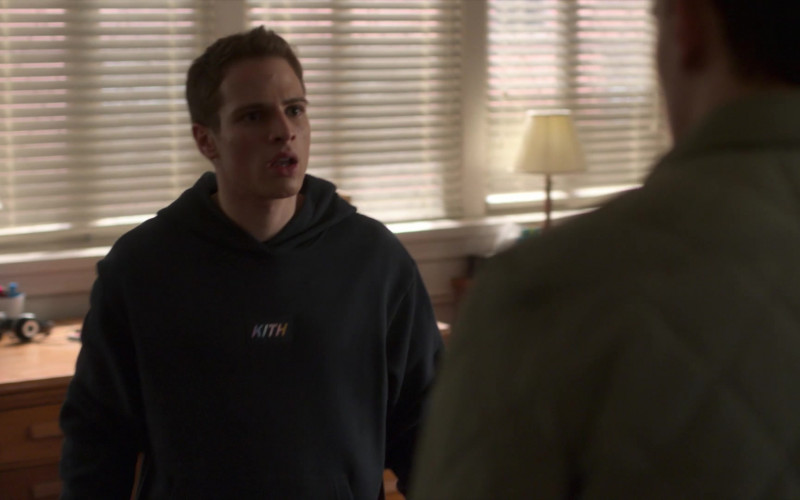 Kith Men's Black Hoodie of Gianni Paolo as Brayden Weston in Power Book II Ghost S01E06 (1)