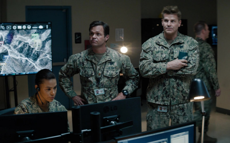 LG Monitor in SEAL Team S04E03 The New Normal (2020)
