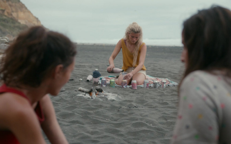LaCroix Sparkling Water Cans Used by Mia Healey as Shelby Goodkind in The Wilds S01E09
