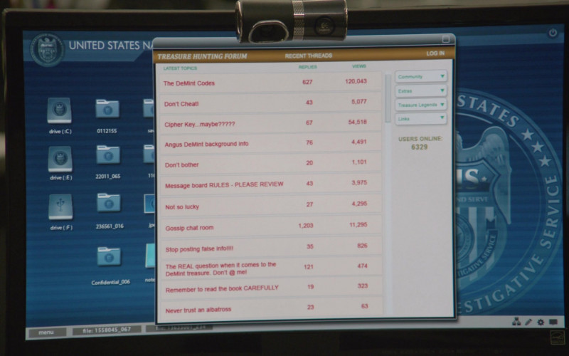 Logitech Webcam in NCIS S18E03 Blood and Treasure (2020)