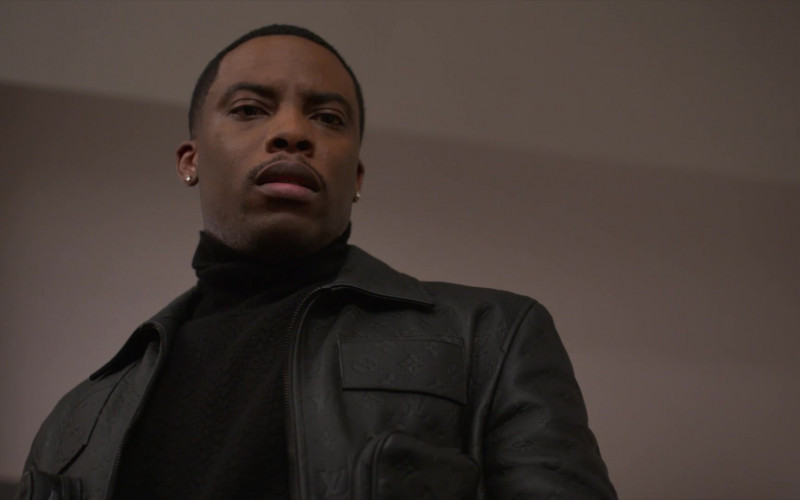 Louis Vuitton Leather Jacket of Woody McClain as Cane Tejada in Power Book II Ghost S01E06 (5)