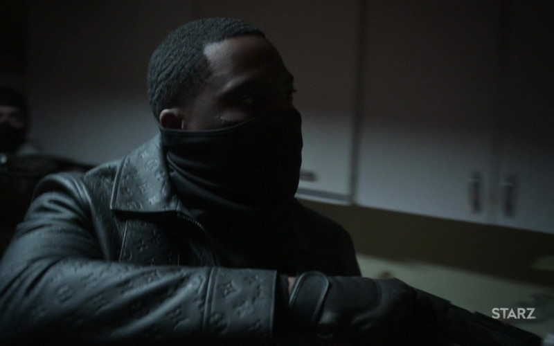 Louis Vuitton Monogram Embossed Utility Jacket Worn by Woody McClain as Cane in Power Book II Ghost S01E07