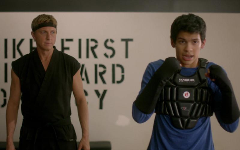 Macho Martial Arts Sport Chest of Xolo Maridueña as Miguel Diaz in Cobra Kai S01E05 (1)