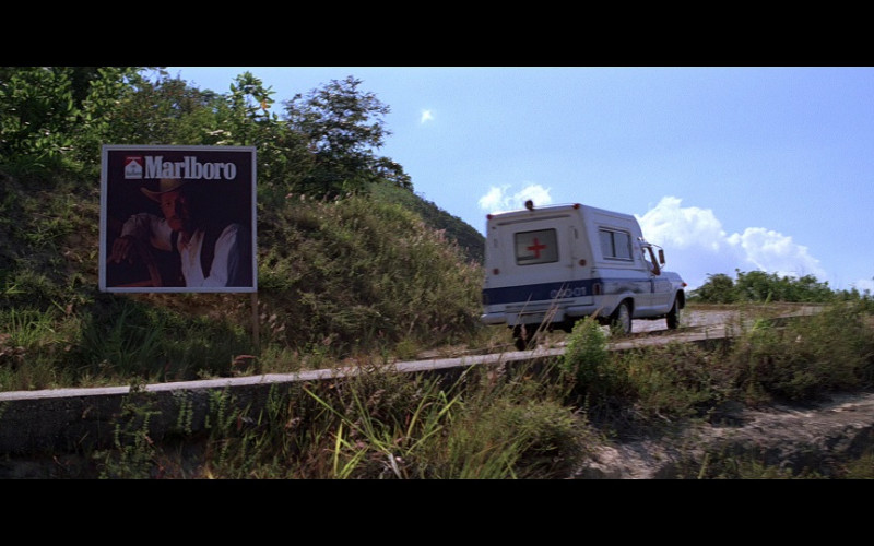 Marlboro Cigarettes Billboard in Moonraker (1979)