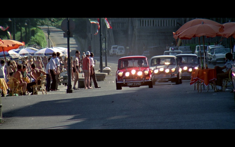Martini Parasols in The Italian Job (1969)