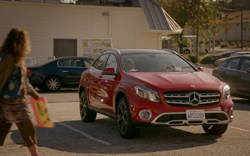 Mercedes-Benz GLA-Class Red Car of Hannah Kepple as Moon in Cobra Kai S01E05 (1)