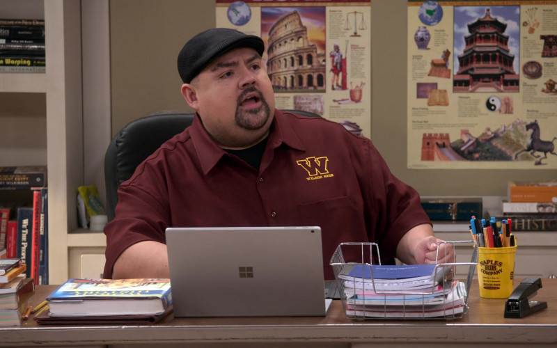 Microsoft Surface Laptop of Gabriel Iglesias and Naples Rib Company (Barbecue Restaurant) Yellow Cup (1)