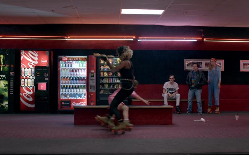 Monster Energy and Coca-Cola Soda Vending Machines in Cobra Kai S02E08