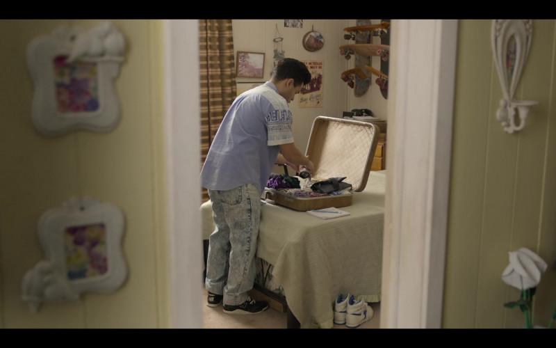 New Balance Men's Black Sneakers of Gabriel Chavarria as A.B. Quintanilla in Selena The Series S01E02