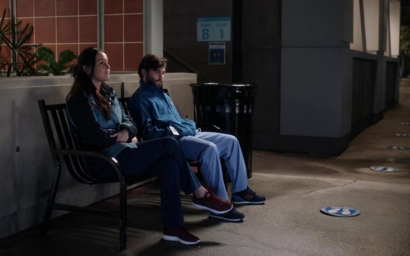 New Balance Men's Sneakers of Jake Borelli as Dr. Levi Schmitt in Grey's Anatomy S17E06