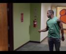 Nike Green T-Shirt and Grey Sweatpants of Jay Reeves as Ray ...
