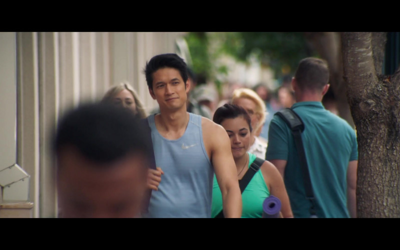 Nike Men's Tank Tee of Harry Shum Jr. as Solomon Sol Chau in All My Life (2020)