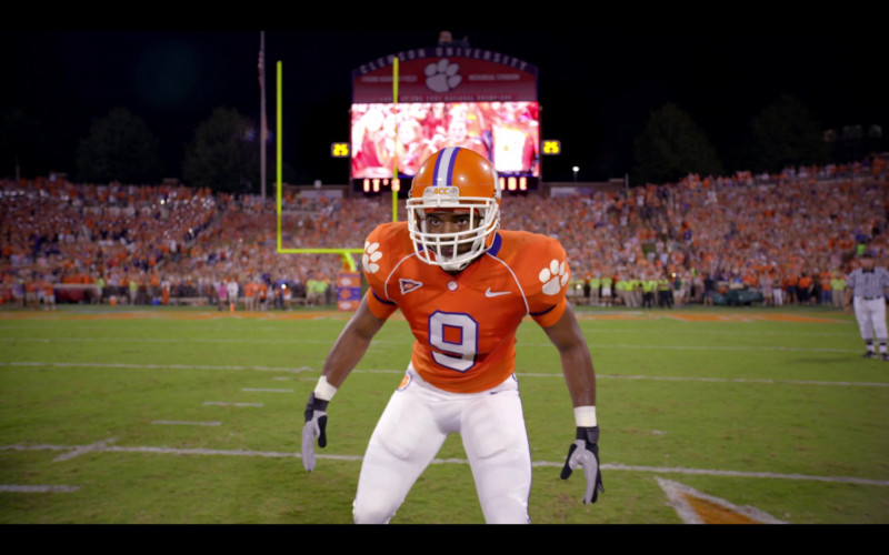 Nike Orange Football Jersey of Jay Reeves as Ray McElrathbey in Safety (3)