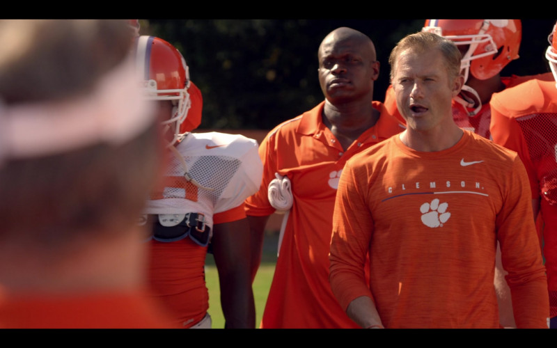 Nike Orange Long Sleeve Tee of James Badge Dale as Coach Brad Simmons in Safety (1)