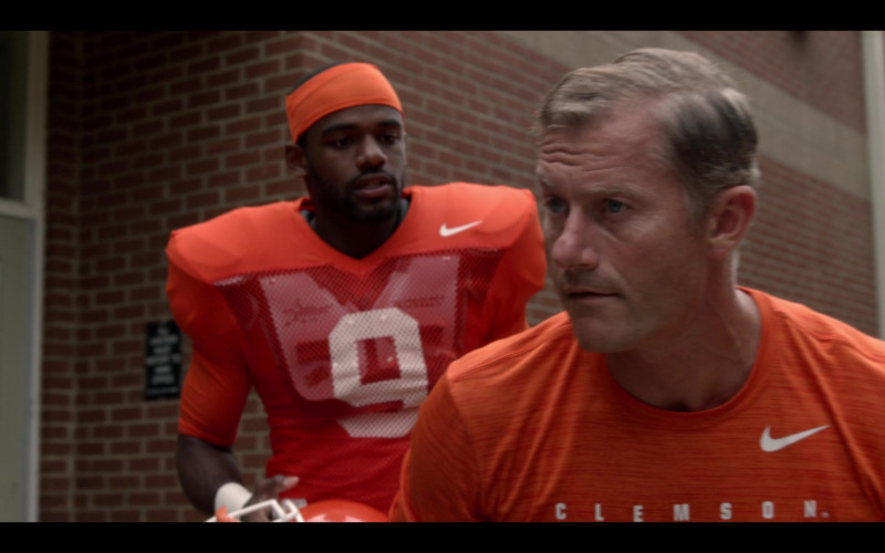 Nike Orange T-Shirt of James Badge Dale as Coach Brad Simmons in Safety (1)