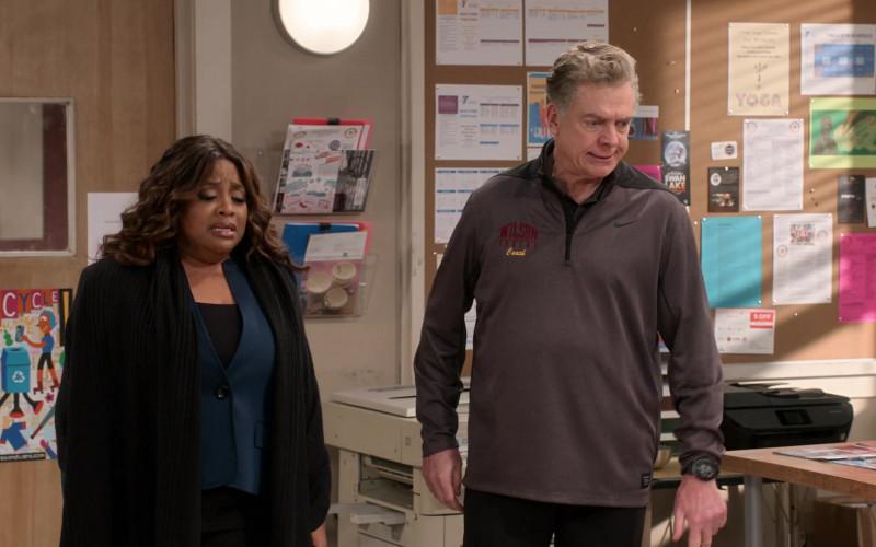Nike Quarter-Zip Pullover Jacket of Christopher McDonald as Coach Dixon in Mr. Iglesias S03E04 (1)