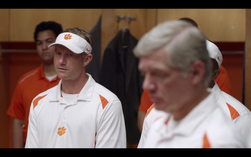 Nike White Visor of James Badge Dale as Coach Brad Simmons in Safety