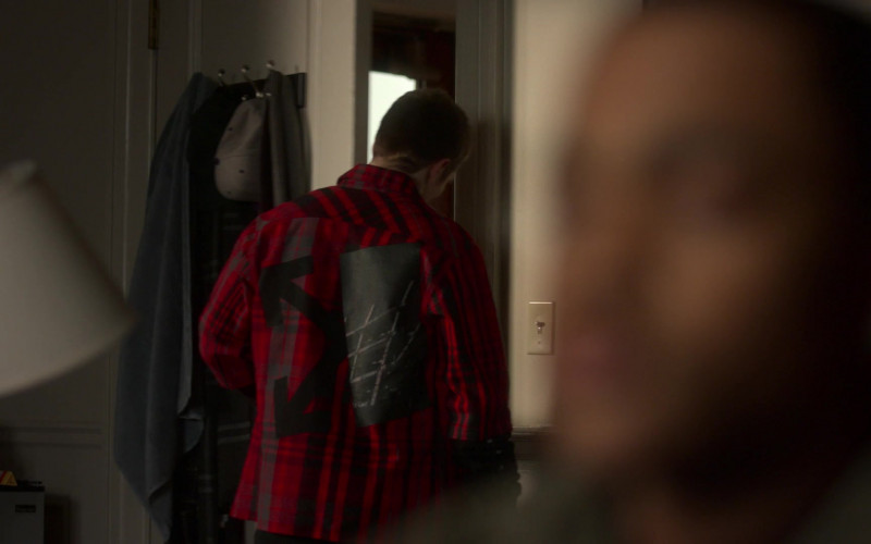Off-White Plaid Shirt of Gianni Paolo as Brayden Weston in Power Book II Ghost S01E07 (1)