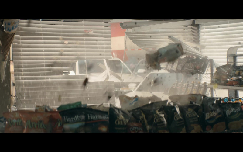 Old Dutch Foods Arriba Tortilla Chips, Hardbite Chips, Doritos in The Stand S01E02