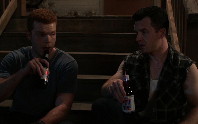 Old Style Beer of Noel Fisher as Mickey Milkovich in Shameless S11E01 (2)