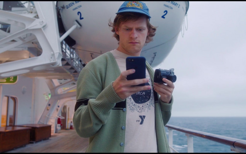 Olympus Camera of Lucas Hedges as Tyler Hughes in Let Them All Talk (2020)