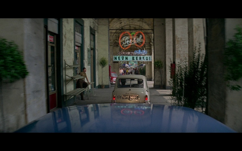 Persol Sign in The Italian Job (1969)