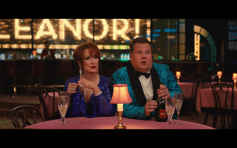 Piper Heidsieck Champagne Bottle Held by James Corden as Barry Glickman in The Prom (4)