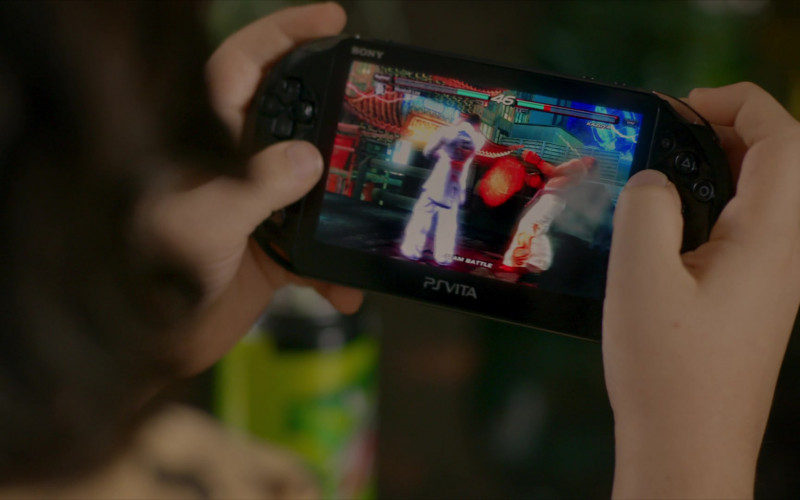 PlayStation Vita Handheld Video Game Console of Griffin Santopietro as Anthony in Cobra Kai S01E06
