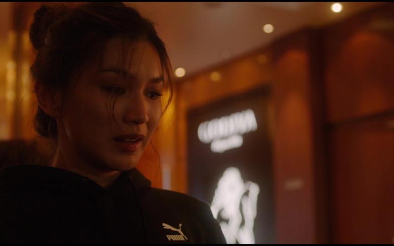 Puma Women's Black Hoodie of Gemma Chan as Karen in Let Them All Talk (3)