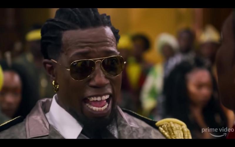Ray-Ban Aviator Men's Sunglasses of Arsenio Hall as Semmi in Coming 2 America (2021)