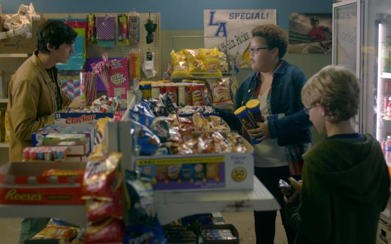 Reese's, Pixy Stix Candies, Pringles Chips in Cobra Kai S01E09